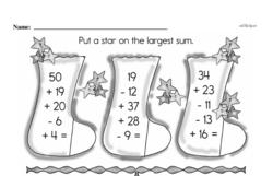 Free Second Grade Addition PDF Worksheets Worksheet #165