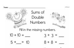 Addition Worksheets - Free Printable Math PDFs Worksheet #207