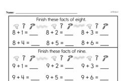 Second Grade Addition Worksheets Worksheet #107