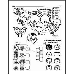 Free Second Grade Addition PDF Worksheets Worksheet #107