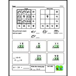 Free Second Grade Addition PDF Worksheets Worksheet #2