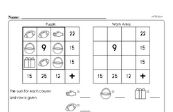 Addition Worksheets - Free Printable Math PDFs Worksheet #38