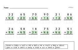 Free Second Grade Addition PDF Worksheets Worksheet #146
