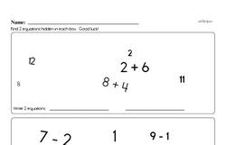 Addition Worksheets - Free Printable Math PDFs Worksheet #101