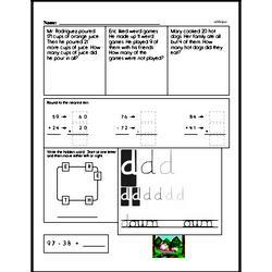 Free Second Grade Addition PDF Worksheets Worksheet #85
