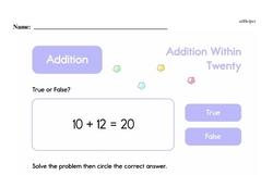 Addition Worksheets - Free Printable Math PDFs Worksheet #385