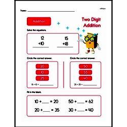 Addition Worksheets - Free Printable Math PDFs Worksheet #1