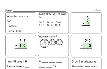 End of the Year Second Grade Math Assessments