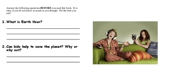 Earth Hour Sleepover - Read and Write Book