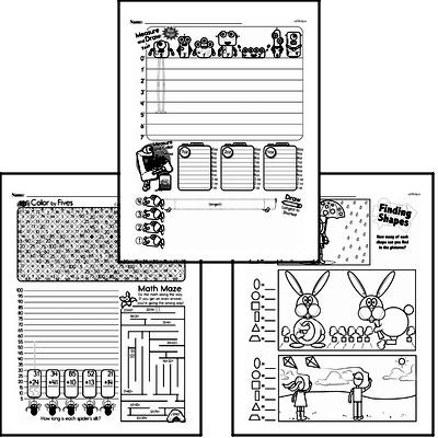 Data Mixed Math PDF Workbook for Second Graders