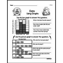 Second Grade Data Worksheets Worksheet #4