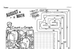 Free Second Grade Data PDF Worksheets Worksheet #28
