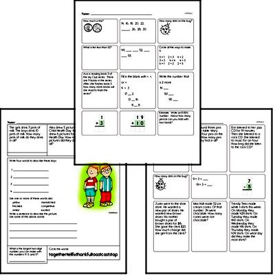 Easy Math Minute Enrichment Pages