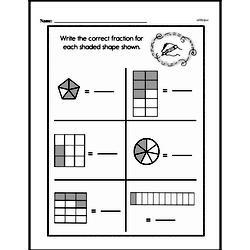 Free Fraction PDF Math Worksheets Worksheet #57