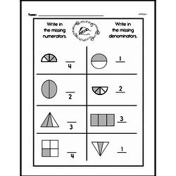 Free Fraction PDF Math Worksheets Worksheet #137