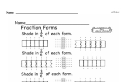 Free Fraction PDF Math Worksheets Worksheet #105