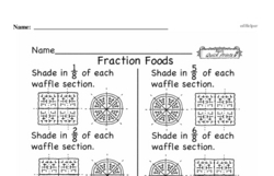 Free Fraction PDF Math Worksheets Worksheet #244