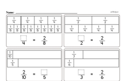 Equivalent fractions challenge.