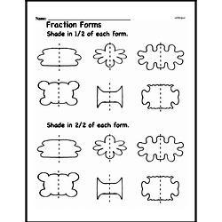Free Fraction PDF Math Worksheets Worksheet #123