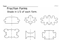 Free Fraction PDF Math Worksheets Worksheet #149