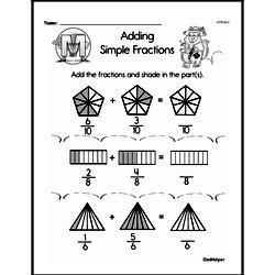 Fraction Worksheets - Free Printable Math PDFs Worksheet #190
