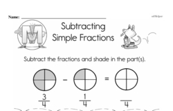 Fraction Worksheets - Free Printable Math PDFs Worksheet #65