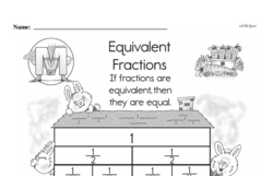 Fraction Worksheets - Free Printable Math PDFs Worksheet #129