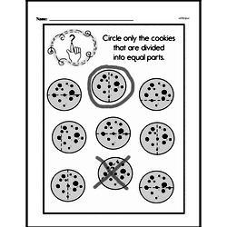 Free Second Grade Fractions PDF Worksheets Worksheet #28