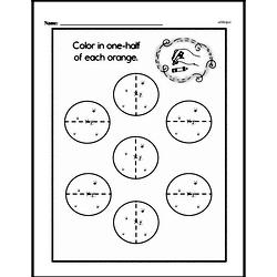 Free Second Grade Fractions PDF Worksheets Worksheet #21