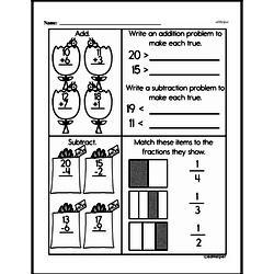 Free Fraction PDF Math Worksheets Worksheet #225