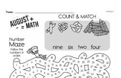 Free Fraction PDF Math Worksheets Worksheet #18