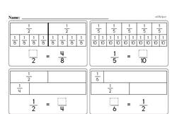 Free Fraction PDF Math Worksheets Worksheet #208