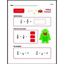 Fraction Worksheets - Free Printable Math PDFs Worksheet #281