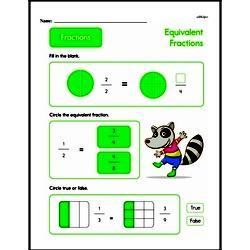 Fraction Worksheets - Free Printable Math PDFs Worksheet #108