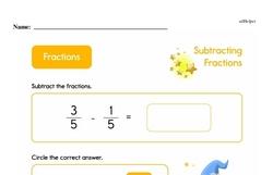 Fraction Worksheets - Free Printable Math PDFs Worksheet #2