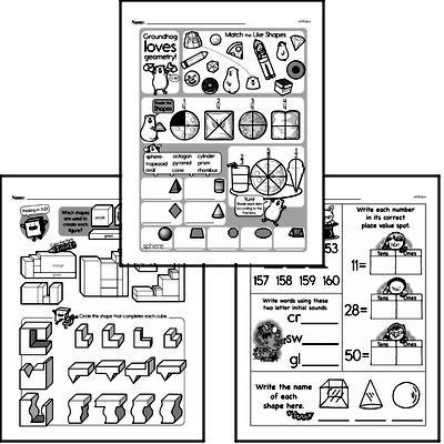free second grade geometry pdf worksheets. Black Bedroom Furniture Sets. Home Design Ideas