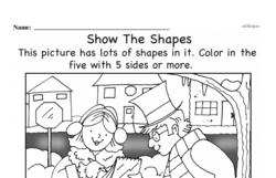 Free Second Grade Geometry PDF Worksheets Worksheet #23