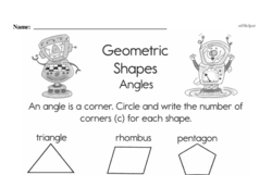 Geometry Worksheets - Free Printable Math PDFs Worksheet #35