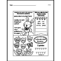 Free Second Grade Math Challenges PDF Worksheets Worksheet #110