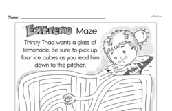 Free Second Grade Math Challenges PDF Worksheets Worksheet #175