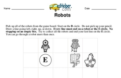 Logic Math Challenge with Robots (easier)