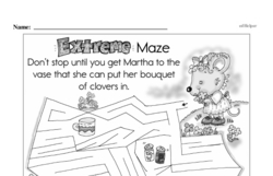 Free Second Grade Math Challenges PDF Worksheets Worksheet #191