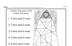 Free Second Grade Math Challenges PDF Worksheets Worksheet #84