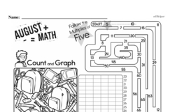 Free Second Grade Math Challenges PDF Worksheets Worksheet #89
