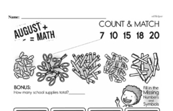 Free Second Grade Math Challenges PDF Worksheets Worksheet #68