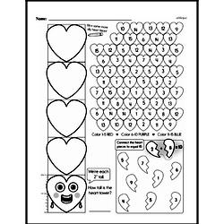 Free Second Grade Math Challenges PDF Worksheets Worksheet #35