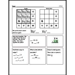 Free Second Grade Math Challenges PDF Worksheets Worksheet #2