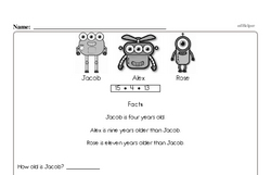 Free Second Grade Math Challenges PDF Worksheets Worksheet #3