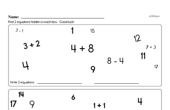 Find the Math Facts