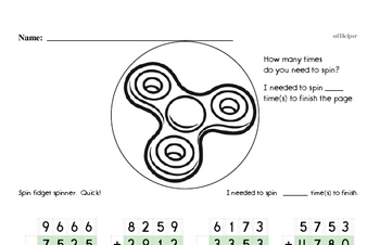 Math Facts Practice Mixed Math PDF Workbook for Second Graders